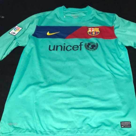 best service c6be0 1cfb1 Long sleeve Messi away Barcelona jersey retro